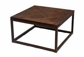 square coffee table with iron base kc077