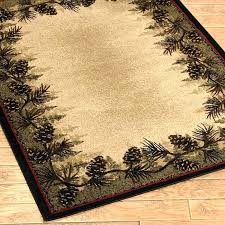 rustic area rugs rustic area rugs pine cone forest border rustic cabin lodge area rug