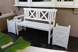 White Wooden Outdoor Furniture Amazing Garden Benches Pool
