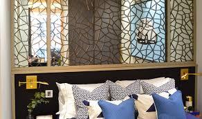 mirror walls with custom fretwork