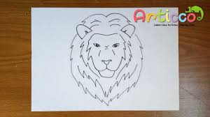 lion face drawing for kids. Fine Face How To Draw A Lion Face Step By For Kids With Drawing For