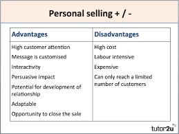 Personal Selling Merchandising Business Tutor2u