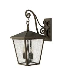elstead lighting hinkley trellis 4 light outdoor large wall lantern in regency bronze finish