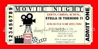 Invitation Ticket Template Movie Ticket Invitation Template Movie Ticket Template Admit One 76