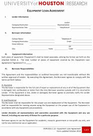 Loan Agreement Form Free Letter Agreement Research Study Luxury Equipment Loan Agreement 24