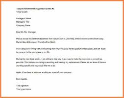 retirement resignation letter sample printable sample retirement resignation letter free