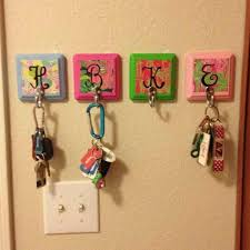 diy projects for apartment decor monogram key hooks cute way to hang keys for your apartm