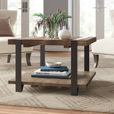 Rustic log coffee and end table set pine and cedar bed furniture. Reclaimed Coffee Tables Joss Main
