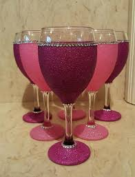 wine glass decorating ideas 6 pink glitter wine glasses wine glass centerpieces for weddings wine glass