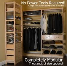 Wood closet shelving Custom Wood Simple Closet Non Toxic Solid Wood No Particle Board