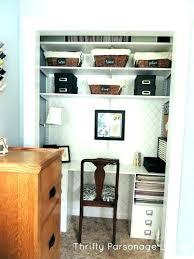 home office closet.  Closet Desk In Closet Office Home  Throughout Home Office Closet