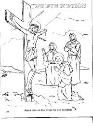 Printable Stations Of The Cross Coloring Pages Color Bros