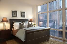New York Bedroom Wallpaper Interior Style Design Metropolis City Apartment Room Bedroom New