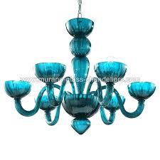 colored glass chandelier colored glass chandelier 6 lights aquamarine color multi blown colored glass chandelier prisms