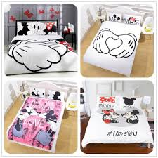 details about disney kids bedding set mickey mouse minnie quilt cover pillowcase duvet cover