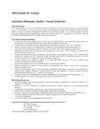 Interesting Assistant Manager And Audio Visual Engineer Resume