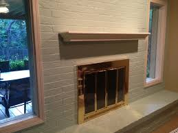 Mantel On Brick Fireplace Painted Paneled Walls And Brick Fireplaces Prettier Face