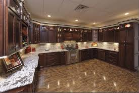 large recessed lighting. Stunning Recessed Lighting With Large Brown Kitchen Cabinet For Stylish Decorating Ideas Shining Ceramic Floor