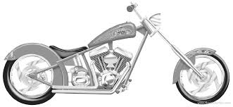 Drawn Motorcycle Custom Chopper #2
