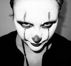 pennywise3 emma conner s pennywise makeup clown y y monochrome indoor