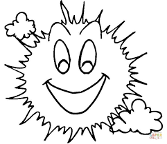 Small Picture Smiling Sun coloring page Free Printable Coloring Pages