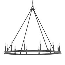 pearson black iron twelve light chandelier