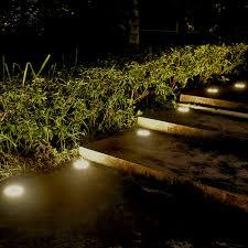 Outside Landscaping Lights Us 4 16 25 Off Outdoor Waterproof Ground Light 8 Leds Solar Power Light Sensor Landscape Lawn Lamp Buried Light For Garden Path Floor Lights In Led