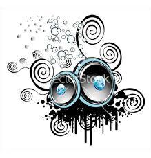 graffiti speakers art. vector graffiti speakers art