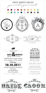 is a good day to play around with our free wedding label templates favour