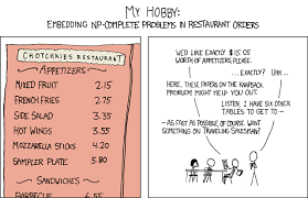 Xkcd Venn Diagram The Knapsack Problem Is Np Complete From Xkcd 287 By Randall Munroe