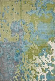 surya aberdine area rug grey lime teal 5 2 x7