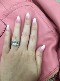 ombré pink and white sns nails apple nails in lexington cky