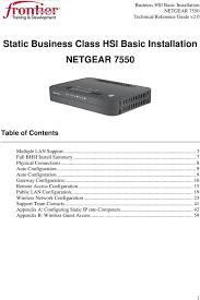 static business class hsi basic installation netgear pdf 9 gateway configuration 10 remote access configuration 15