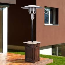 Modern Propane Patio Heater With Table Sonoma 40000 Btu Envirostone And Travertine Gas For Simple Design