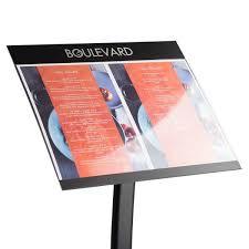 Menu Display Stands Restaurant Stunning Titan Slim Menu Display Stand Menu Cases Display Cases
