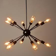 industrial edison bulb chandelier in vintage loft style black throughout with bulbs prepare 1