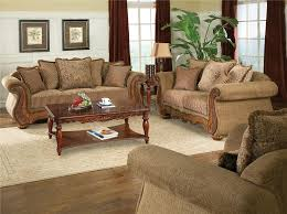 Traditional Chenille Living Room Savonna U140 Light Brown