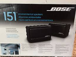 bose 151 outdoor speakers. bose 151 all-weather outdoor environmental speaker set - black w/ brackets speakers
