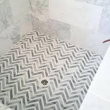 white shower floor tile white and gray marble herringbone shower floor white hexagon shower floor tile
