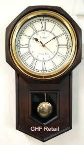 antique look pendulum wall clock coffee