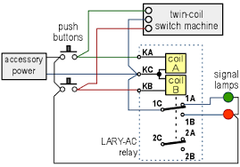 bistable dpdt latching relay screw terminals turnout application