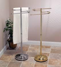 New Design Brushed Nickel Standing Towel Rack Gorgeous Dwba Free