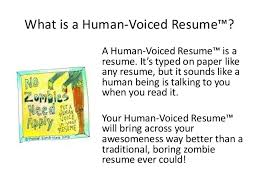 What Is A HumanVoiced Resume™ Inspiration Human Voiced Resume
