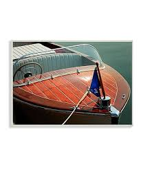 luxury wood boat wall art on wood boat wall art with stupell industries luxury wood boat wall art zulily