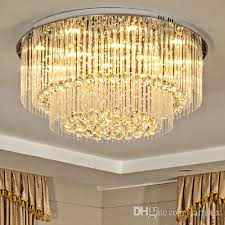 high end led crystal ceiling chandeliers modern creative warm round led chandelier lighting pendent lamps for living room villa hotel hall round led crystal