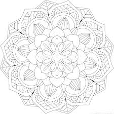 Coloring Pages For Adults Flowers Easy Flower Coloring Pages