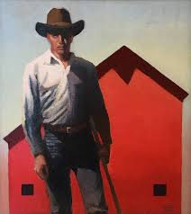 Man with Red Barn - Oil - Gary Ernest Smith - Meyer Gallery