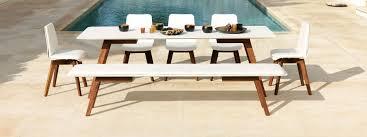 viteo slim minimalist garden dining furniture architectural garden furniture designed by wolfgang pichler shaped