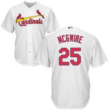 25 Cardinals Replica Mcgwire Jersey Home Mark St Baseball Louis Cool Base Jersey Men's Sale White 8890006