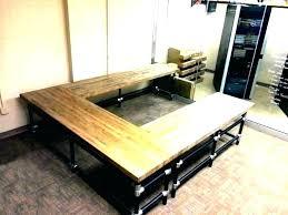 diy butcher block desk butcher block desk computer office board top diy butcher block desk